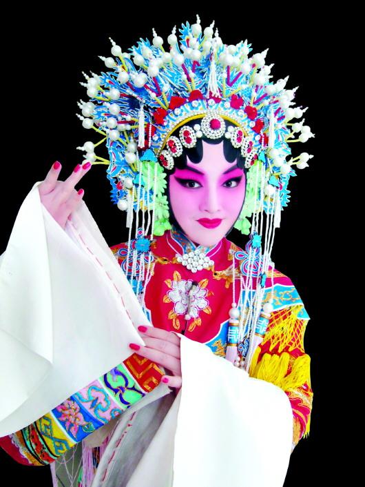 京剧女生唯美手绘