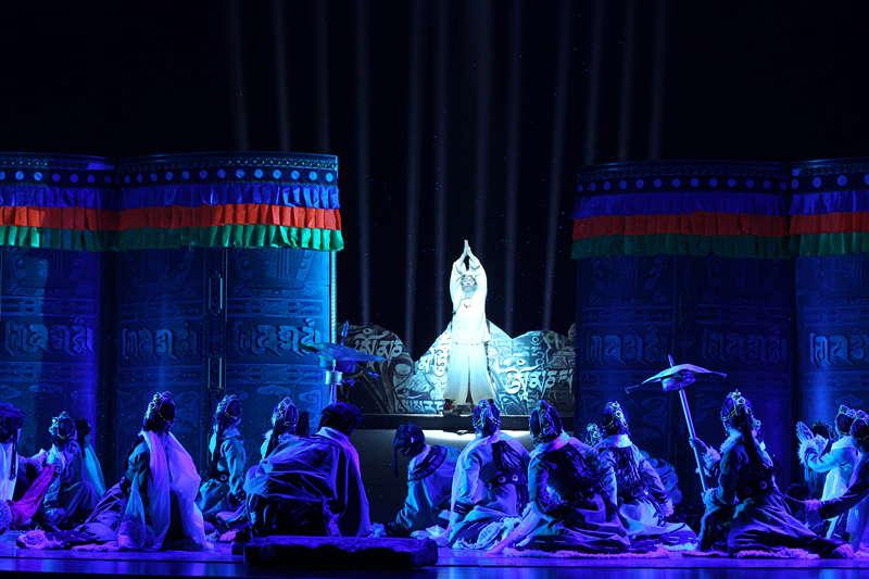 青海省藏剧团黄南州民族歌舞剧院歌舞《热贡神韵》【9