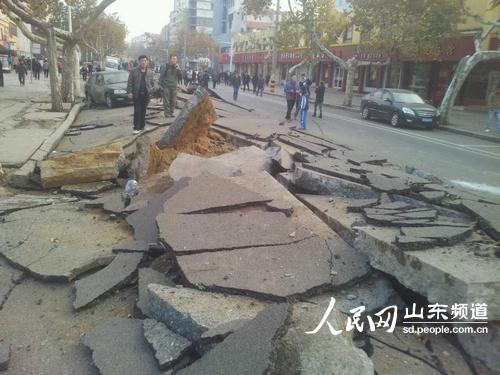 青岛:中石化输油管道爆燃事故原因初步查明--山东