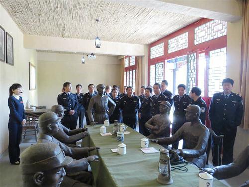惠民县公安局组织副科级以上干部进行现场党性