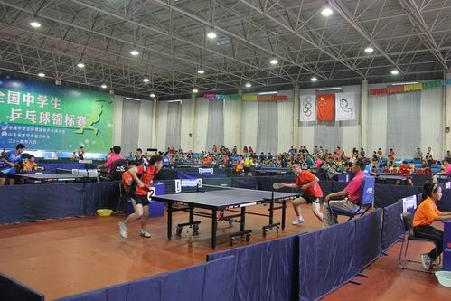2014年全国中学生乒乓球锦标赛在济宁开拍