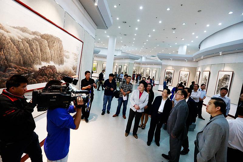 中华颂泰山魂当代中国画展泰安开展工作分工教务处小学图片
