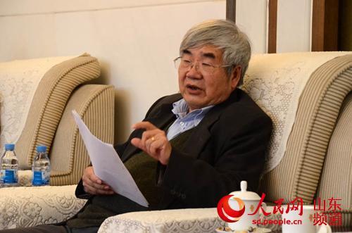 中国儒学社团联席会议秘书长吴光。(摄影:陈心同)