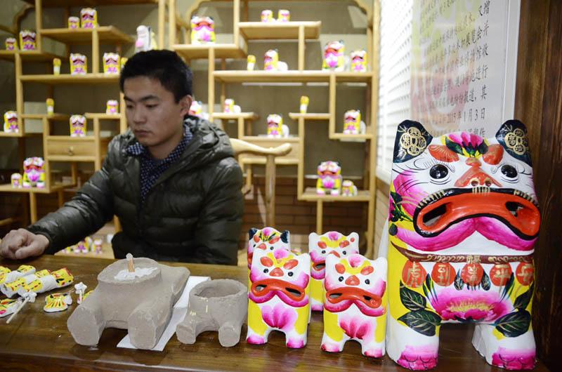 张宁 林立果图片_山东美丽非遗迎新春 市民热闹过大年--山东频道--人民网