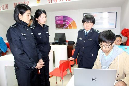 长清分局民警走进山东交通学院开展新媒体微