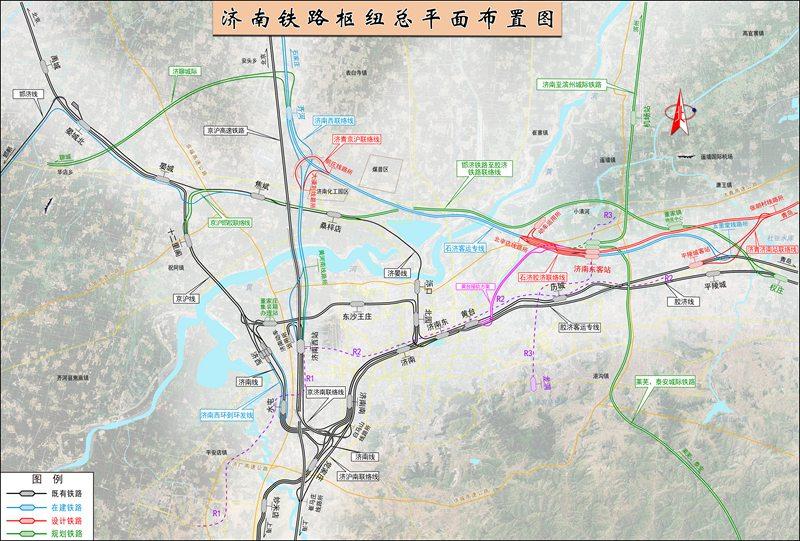 济南铁路枢纽总平面布置图.