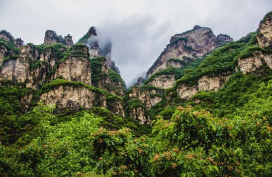 云海仙境,云端栈道,彩虹玻璃栈道,观光索道,悬崖电梯,太行天瀑等景观