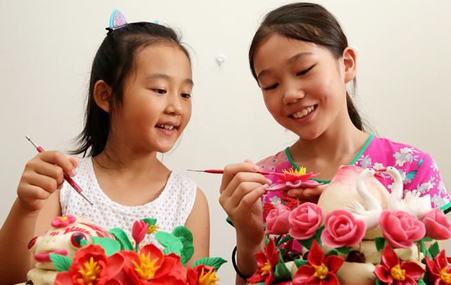"""枣庄小学生暑期学做""""花馍"""" 感受传统文化魅力"""