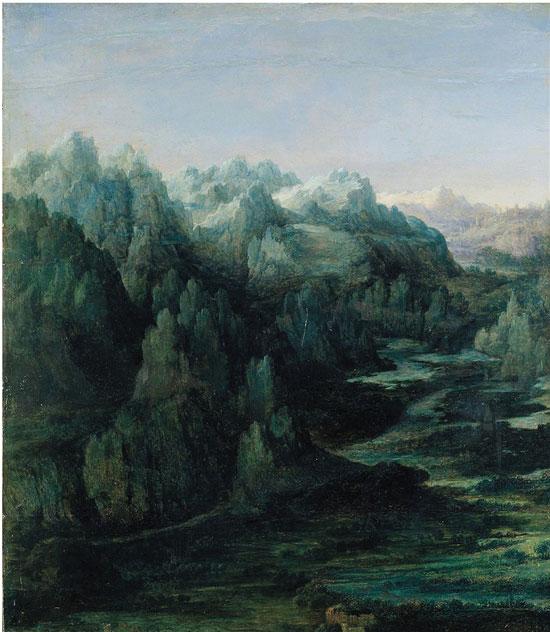 展览中,法国现实主义大师库尔贝的风景画真实地表现出大自然蕴含的