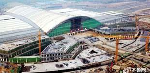济南新东站将在年底通车 俯瞰如雄鹰展翅