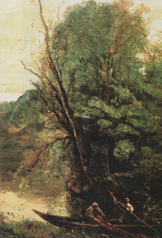 柯羅 傍晚拉網捕魚 布面油畫 1847年 法布爾博物館   柯羅的處境讓我們看到了一個思想的獨立與生活的孤立之間的沖突。在一個自由思想者的世界裡,是否不應該有任何盲從於流行的觀念或教條主義的情緒的,而個人的感受與經驗則是他所認同的世界的真誠。盡管在理智上柯羅並沒有排斥現實,但在情感上他卻更依戀傳統而傳統對於他來說就是遵循他內心世界的真誠。   據說法國著名風景畫家柯羅到了40多歲,外出時還要向母親打報告,原因是他的母親不放心他一個人外出。換句話說,柯羅對於現實生活的守則知之甚少,那