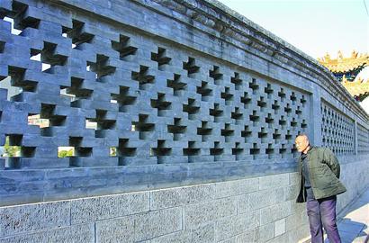 是砖砌的各种图案花样
