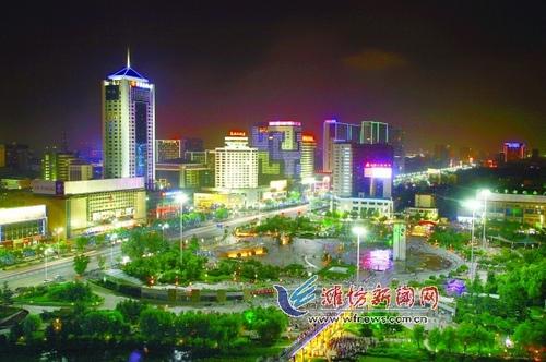 东潍坊风筝广场鸟瞰图