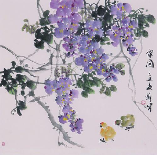 画紫荆花的步骤图解