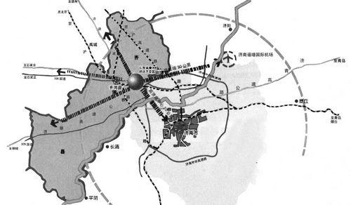 济南黄河北地图