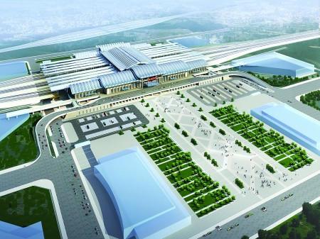 西客站站前综合体效果图.-济南32亿打造西客站壮丽综合体 建两大广场高清图片
