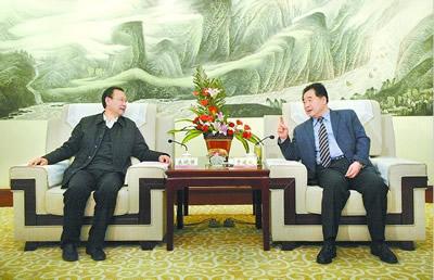 于建成会见山东省国家安全厅厅长朱晓强
